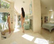 SPYFAM Dick grabbing Step Sister Ambushes Step Bro from spy cama bathing