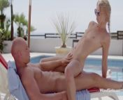WOWGIRLS PROMO A Czech beautiful blonde Violetta got seduced for amazing fuck by the pool. from momsobsex